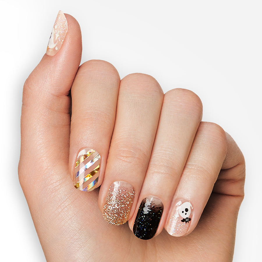 Ghost Town | Halloween Gloss Gel Nail Strips by Dashing Diva