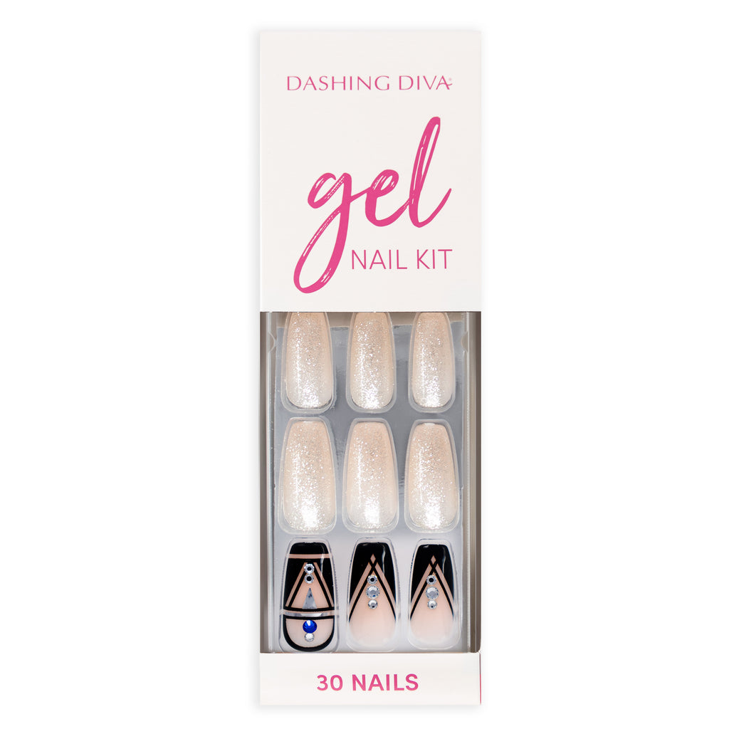 Touch of Gold | Glue On Gel Nail Kit by Dashing Diva