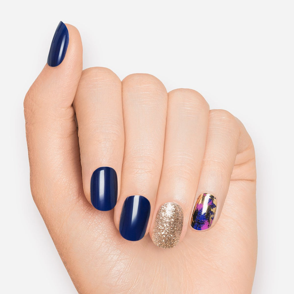 Blue Vixen | Gloss Gel Nail Strips by Dashing Diva