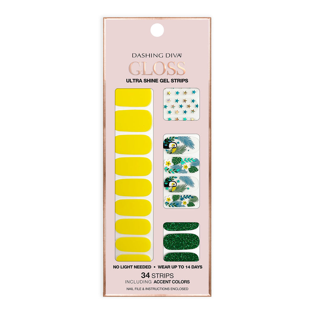 Tropical Paradise | Gloss Gel Nail Strips by Dashing Diva