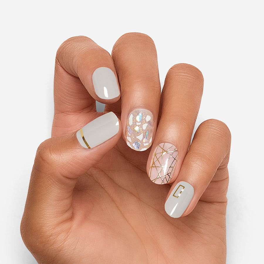All Lined Up | Gloss Gel Nail Strips by Dashing Diva