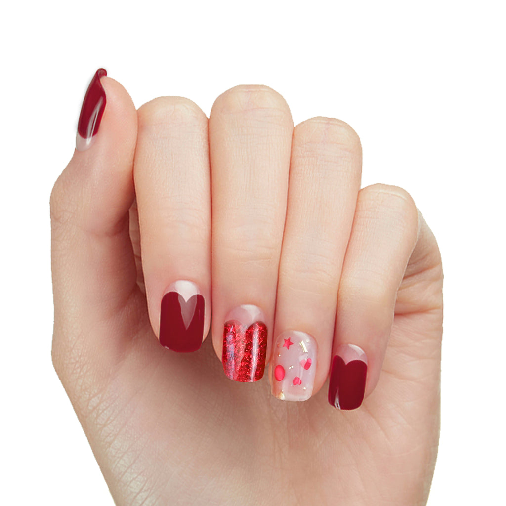 Hogs and Kisses | Gloss Gel Nail Strips by Dashing Diva