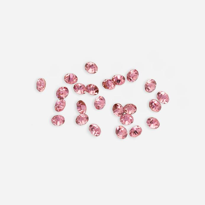 Pink Get Glowing Swarovski Crystal Deco Jewels Nail Art Loose Stones 3mm 30 Pieces DJ01 - Dashing Diva.jpg