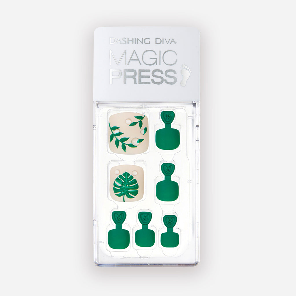 Shake Your Palm Palm | Green Magic Press Nails for Toes by Dashing Diva