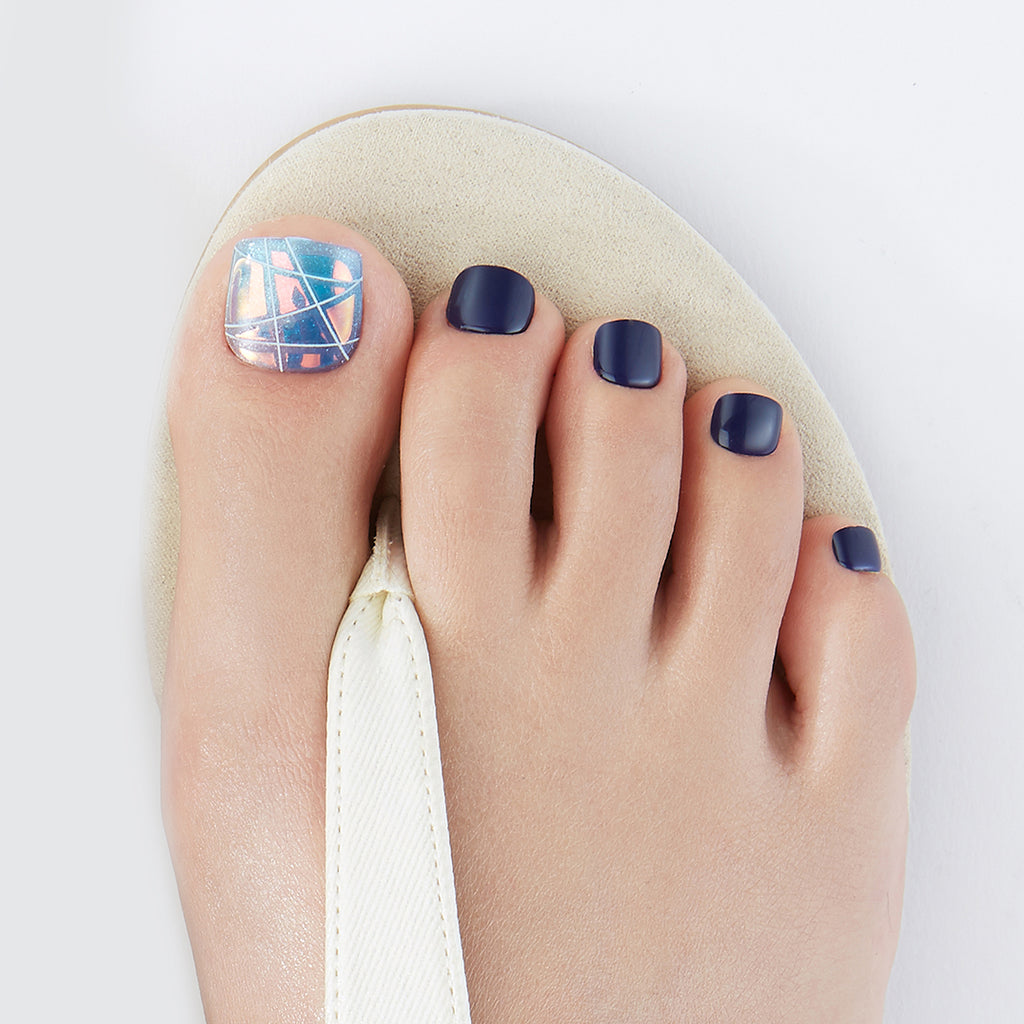 Lady of the Lake | Magic Press Nails for Toes by Dashing Diva