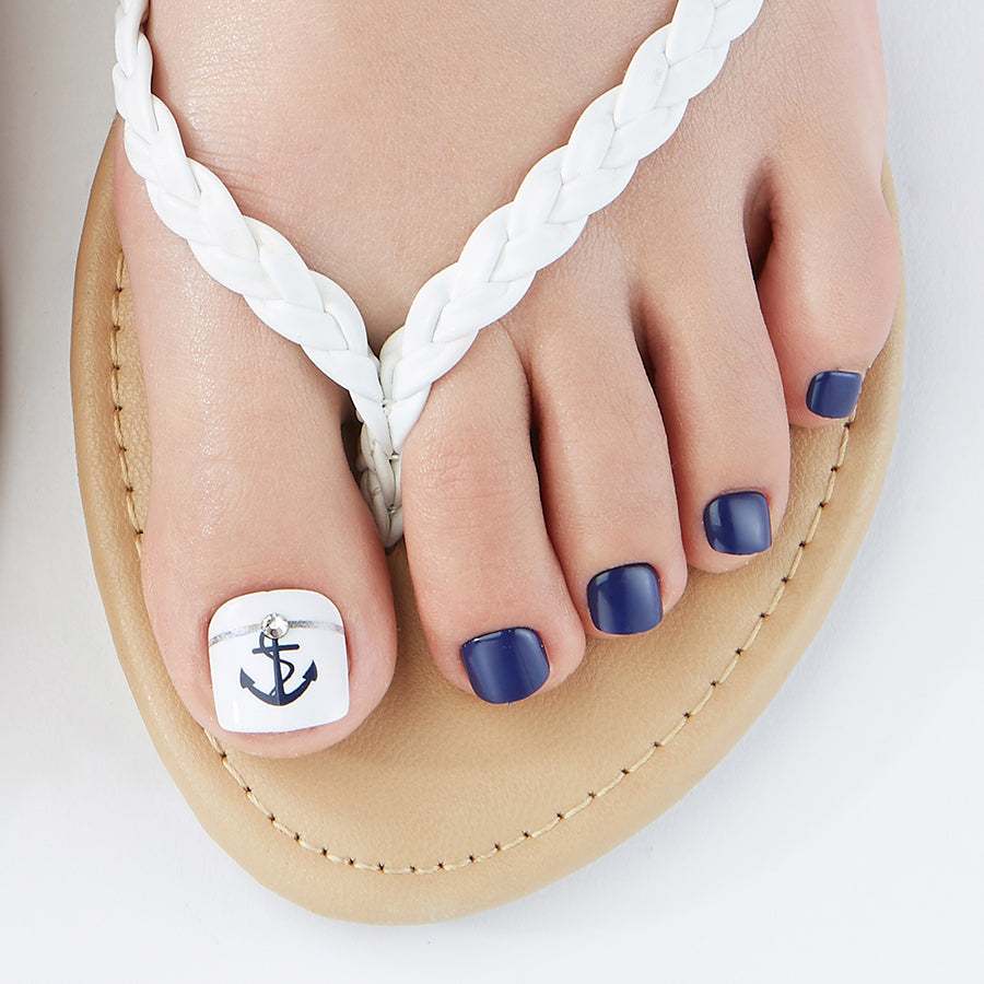 Off The Grid | Magic Press Nails for Toes by Dashing Diva