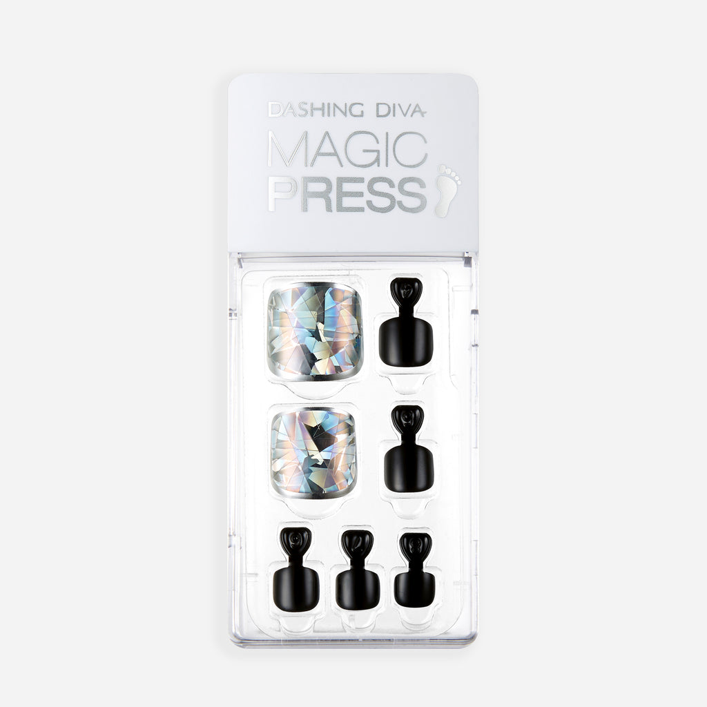 Space Case | Magic Press Nails for Toes by Dashing Diva