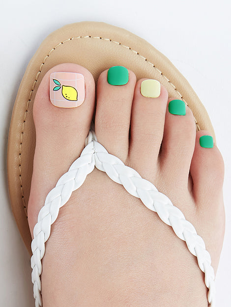Guac O'Clock | Green Magic Press Nails for Toes by Dashing Diva