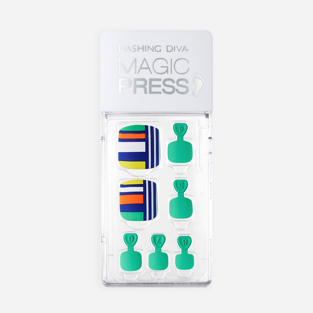 Fit to Print | Magic Press Nails for Toes by Dashing Diva