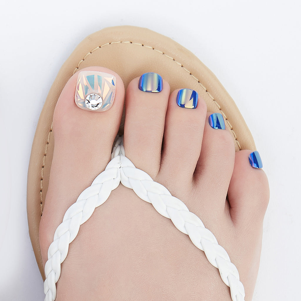 Life Aquatic | Magic Press Nails for Toes by Dashing Diva