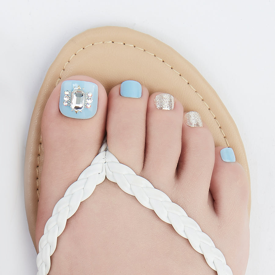 Bad & Blue-gie | Magic Press Nails for Toes by Dashing Diva