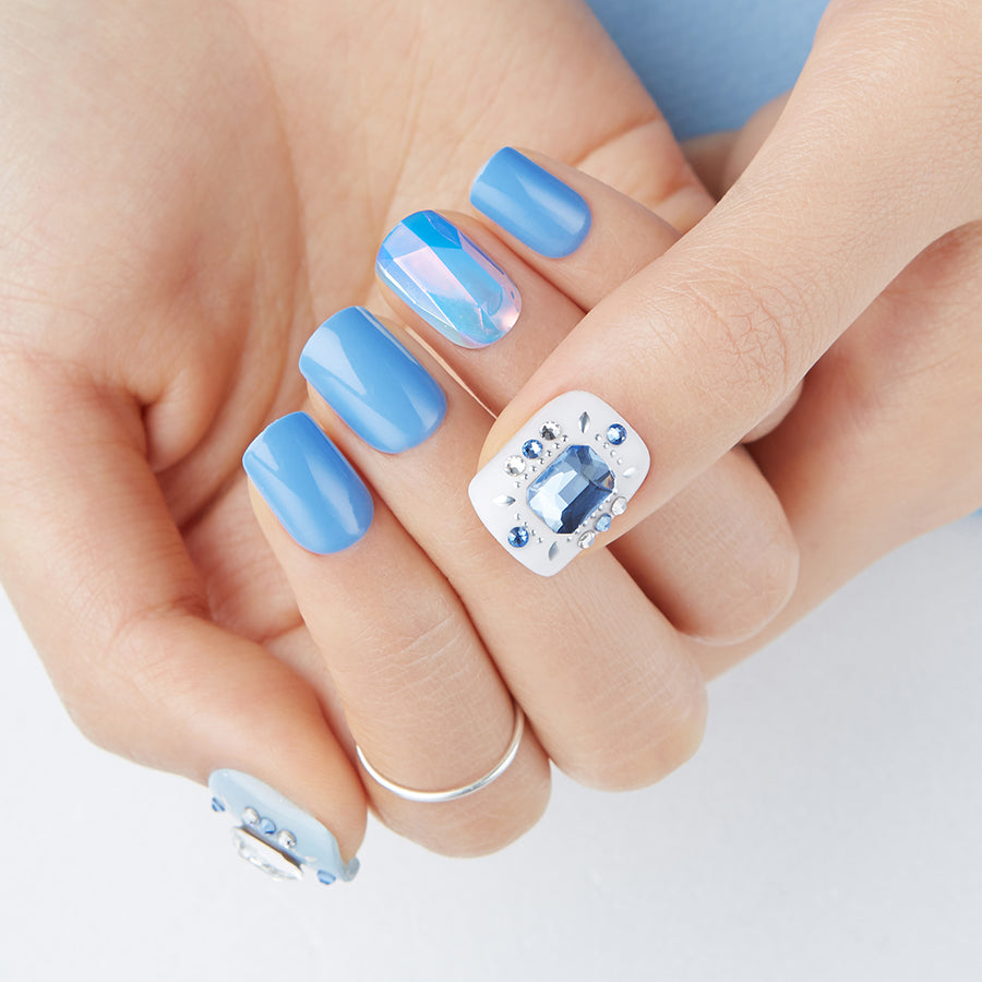 Something Blue | Magic Press Nails by Dashing Diva