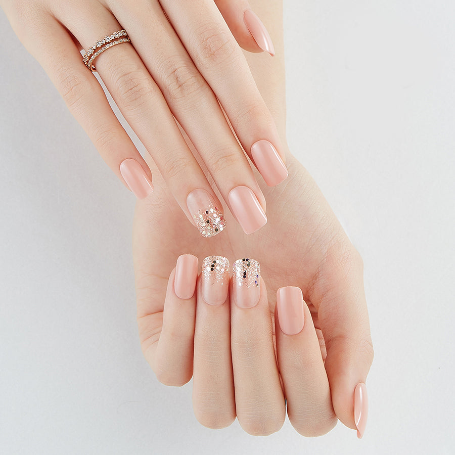 Silky Slip Long | Nude Pink Magic Press Nails by Dashing Diva
