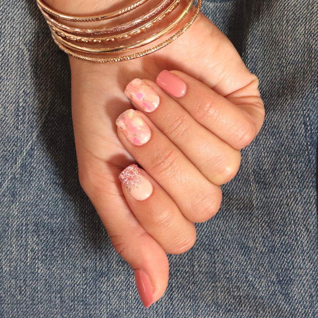Pasture Bedtime Pink Magic Press Nails by Dashing Diva