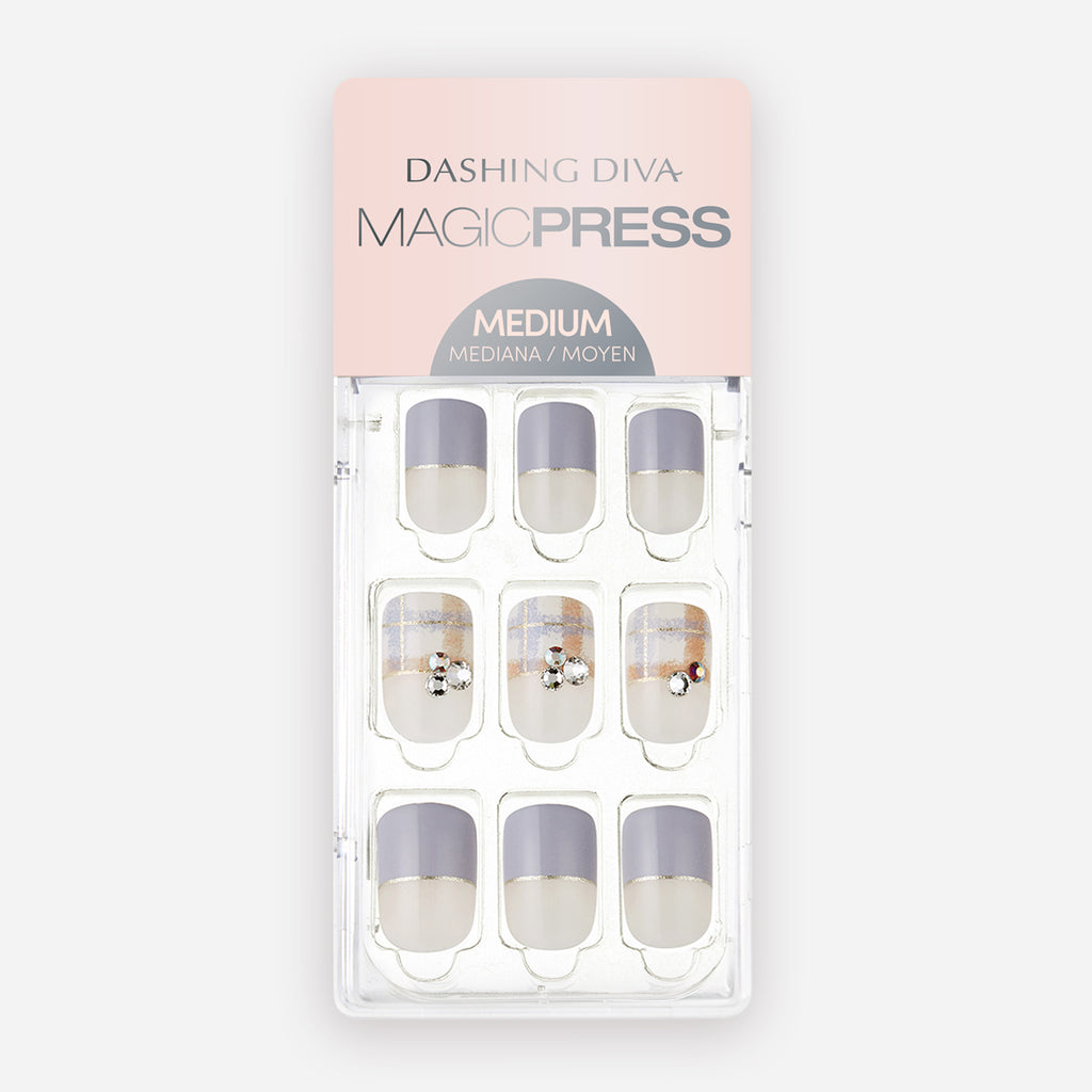 Plaid Me at Hello | Magic Press Nails by Dashing Diva