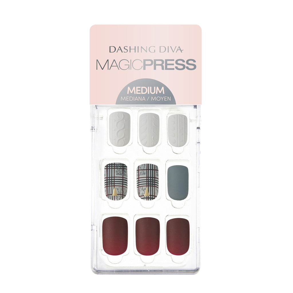 Tartan Practice | Magic Press Nails by Dashing Diva