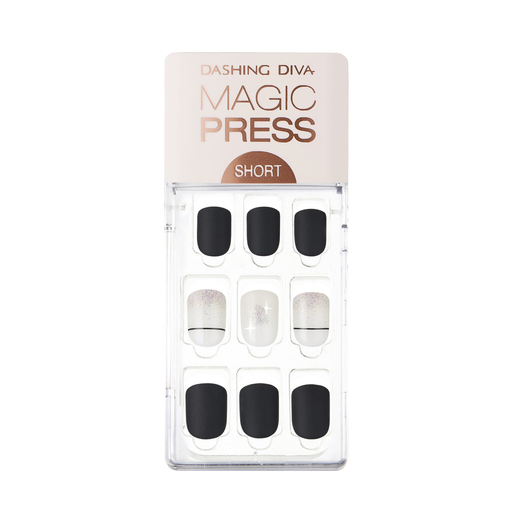 Not So Black and White | Magic Press Nails by Dashing Diva
