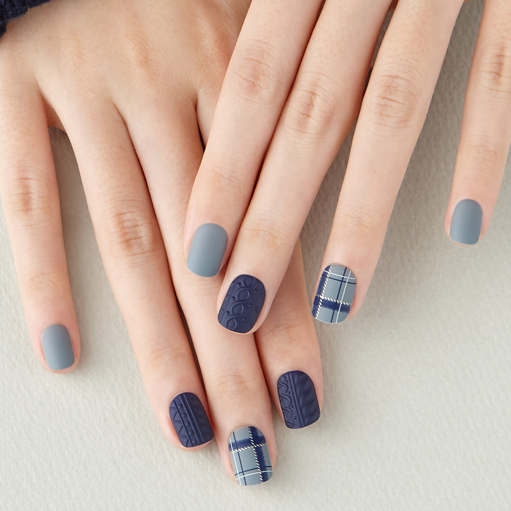 Too Plaid its Cold Outside | Magic Press Nails by Dashing Diva
