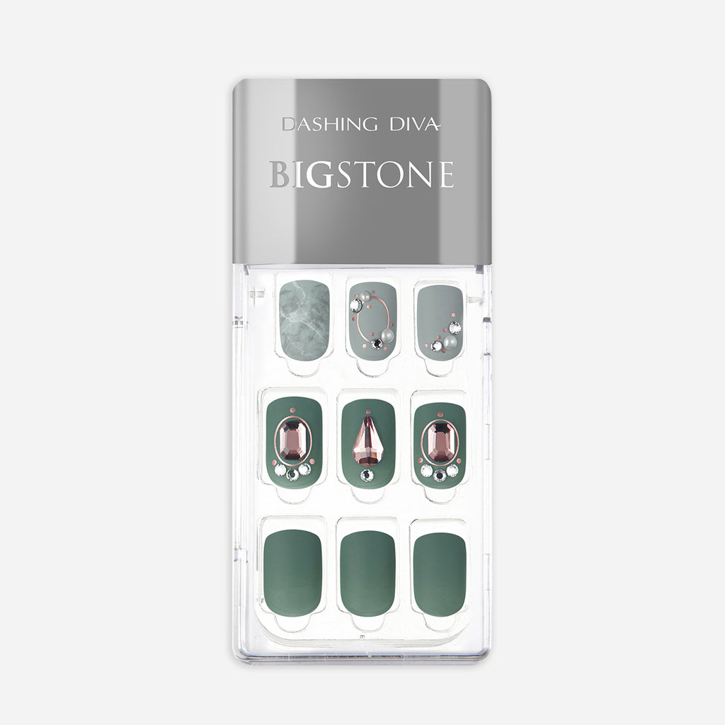 Jaded | Big Stone Green Magic Press Nails by Dashing Diva
