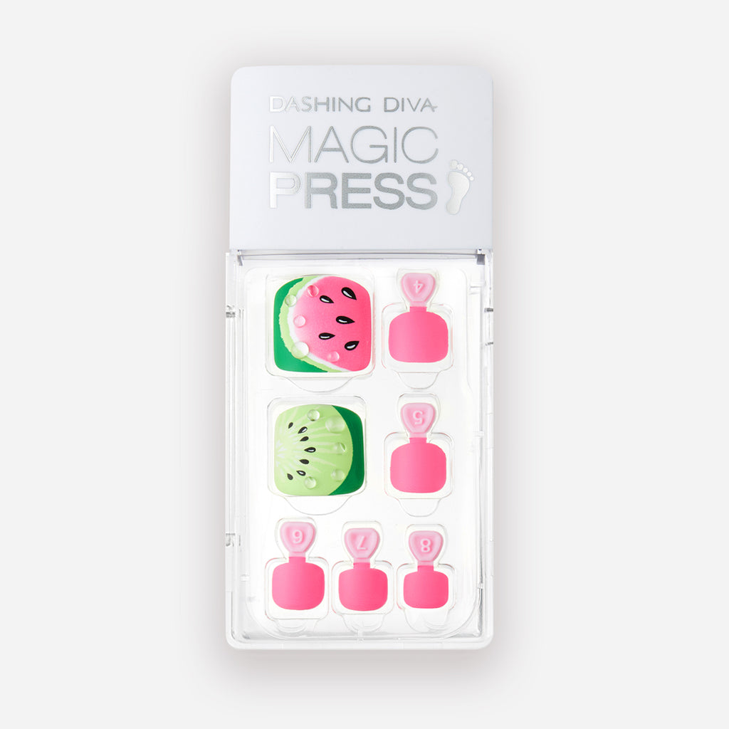One in a Melon | Pink Magic Press Nails for Toes by Dashing Diva