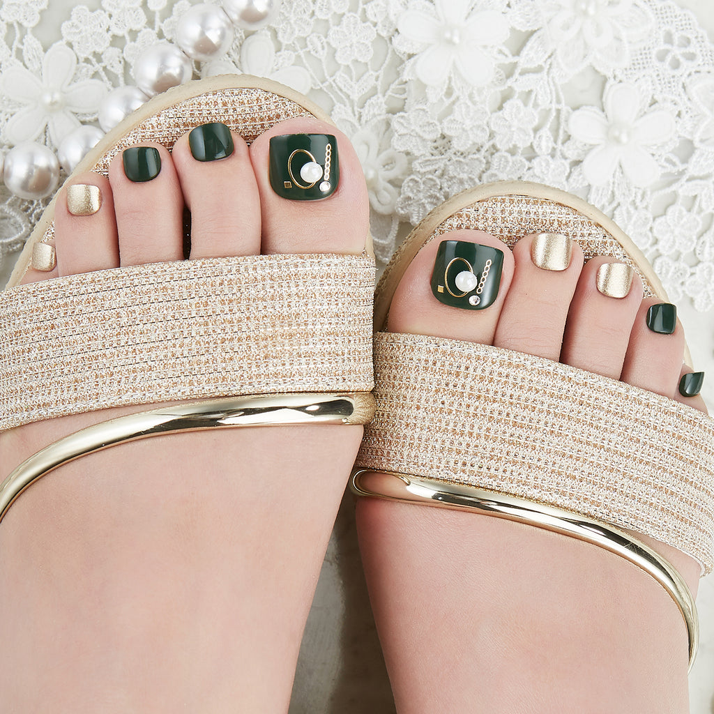 The Pearl Exchange | Magic Press Nails for Toes by Dashing Diva