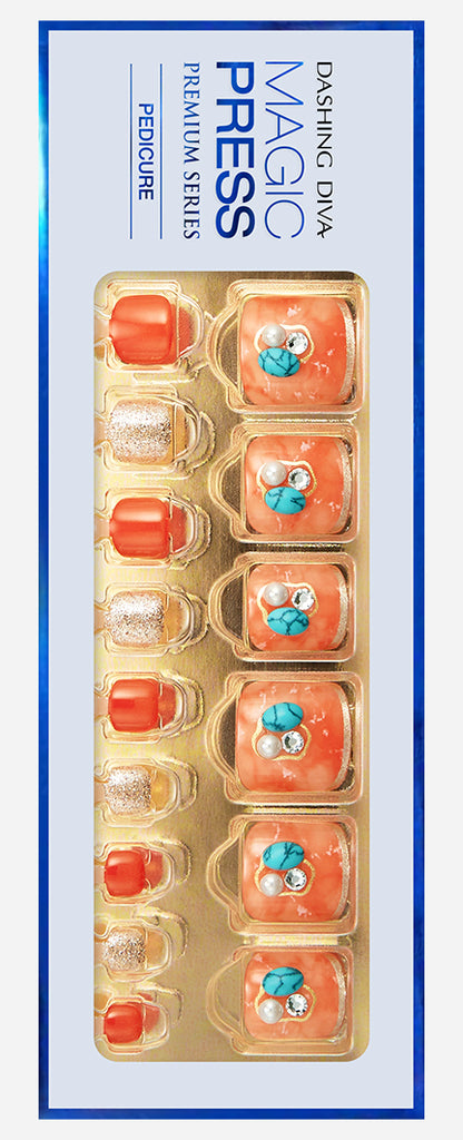 Tangerine Tonic | Orange Magic Press Toe Nails by Dashing Diva
