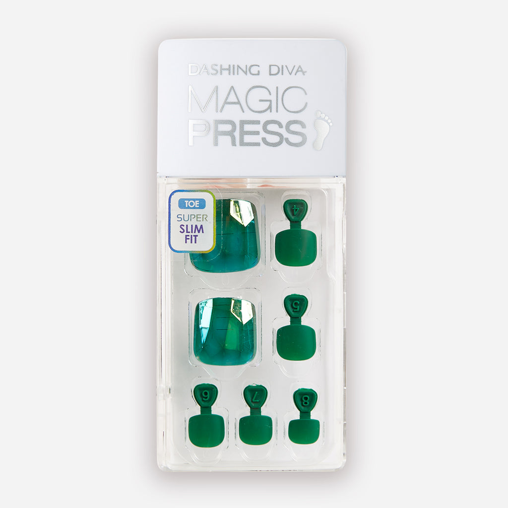 Emerald Possibilities | Magic Press Nails for Toes by Dashing Diva