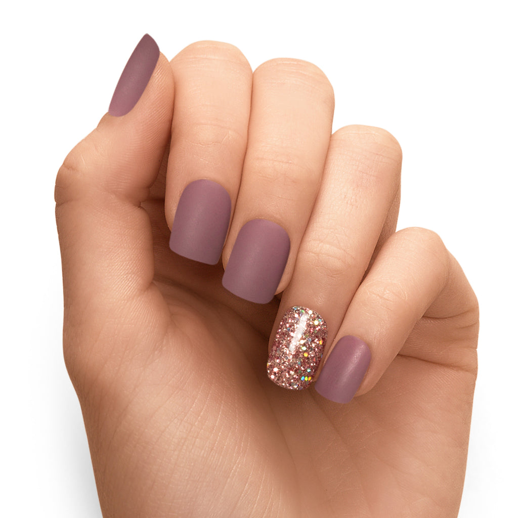 Live Out Loud | Mauve Magic Press Nails by Dashing Diva