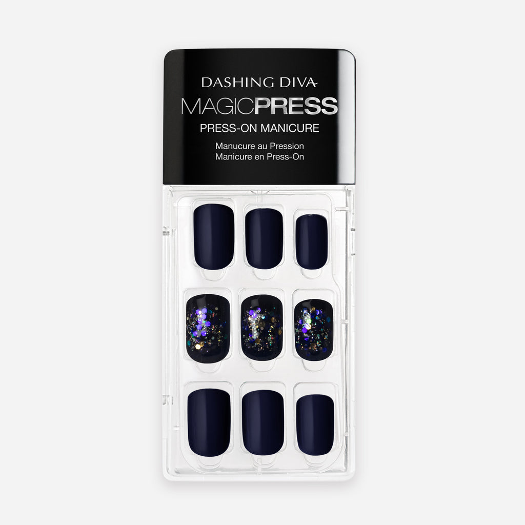 In the Navy | Magic Press Nails by Dashing Diva