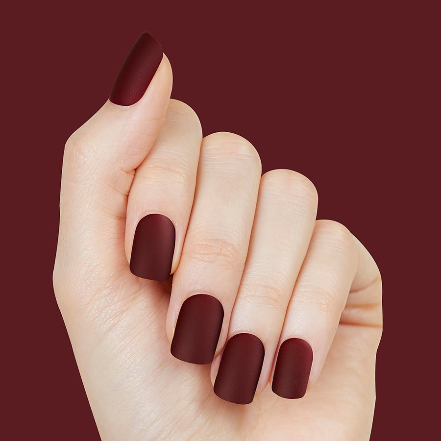 Mulberry Maiden - Matte Finish Magic Press Nails by Dashing Diva