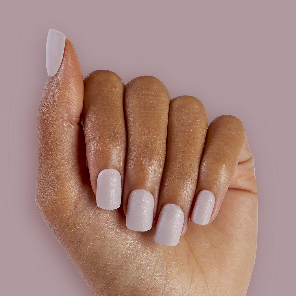 Creamy Almond Mauve Magic Press Nails by Dashing Diva