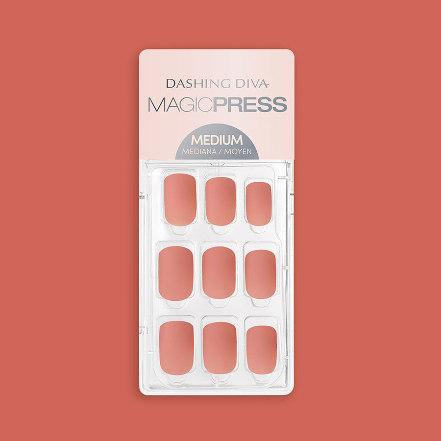 Georgia Peach - Matte Finish Magic Press Nails by Dashing Diva