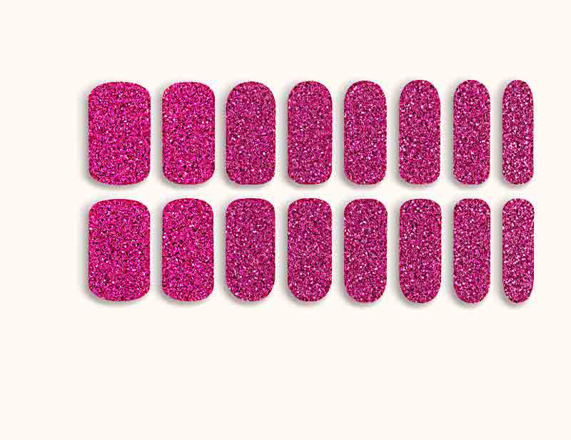 Magenta All Fired Up Design FX Glitter No Heat Nail Wraps 16 Wraps NWG07 - Dashing Diva.jpg