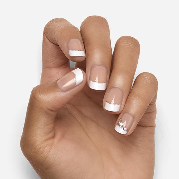 Classy Lady | French Manicure Magic Press Nails by Dashing Diva