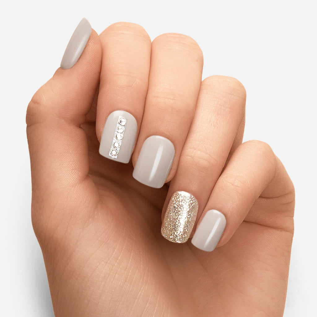 Working It | Grey Magic Press Nails by Dashing Diva
