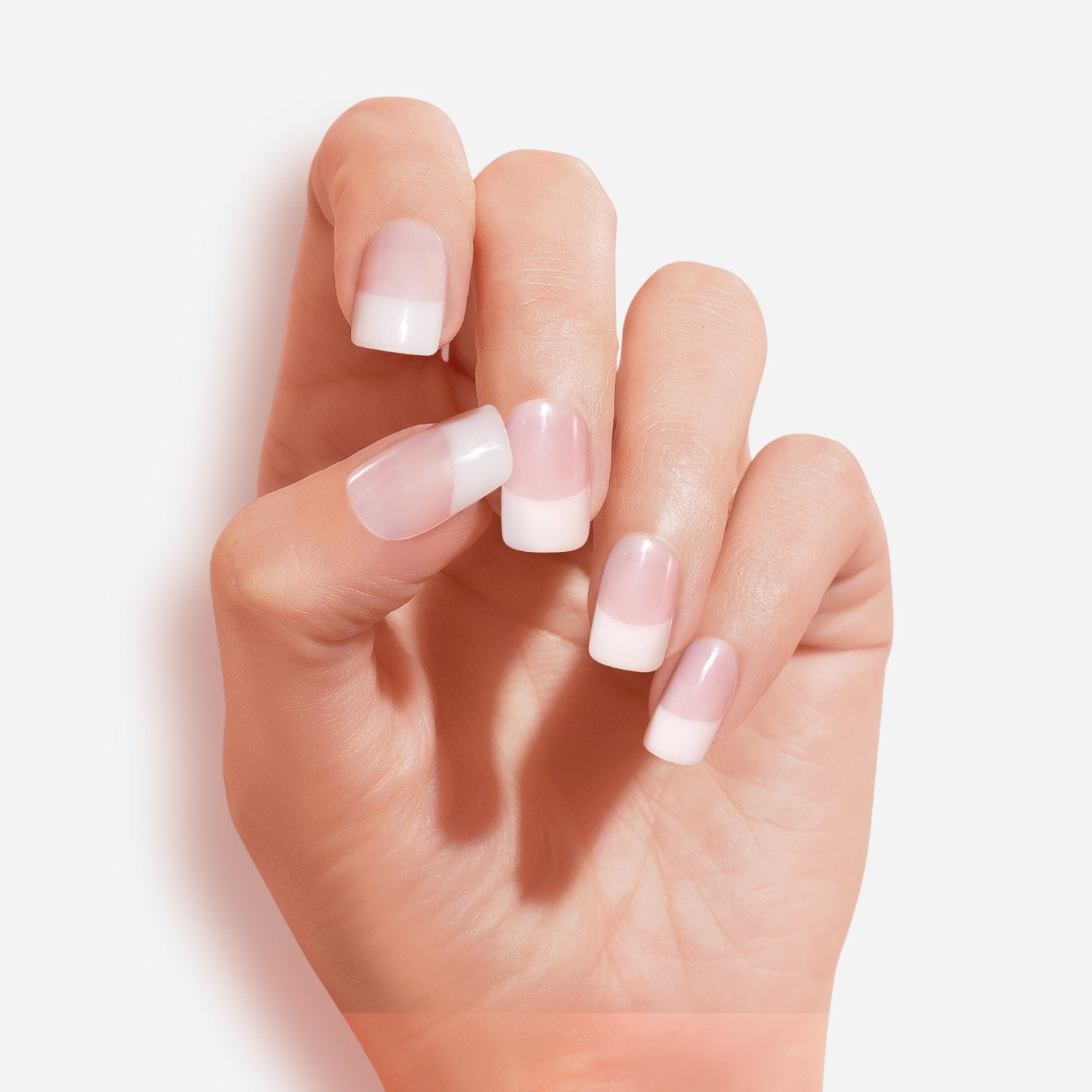 Rapture Fake Nails Kit Stiletto Pointed French White Nude 16 Nails Artificial Nail Tips