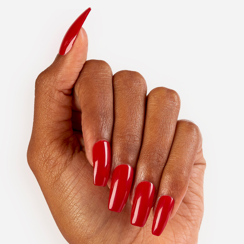 Crimson | Glue On Gel Nail Kit by Dashing Diva