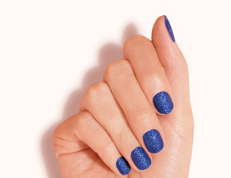Royal Blue Siren Call Design FX Glitter No Heat Nail Wraps 16 Wraps NWG09 Close Up- Dashing Diva.jpg