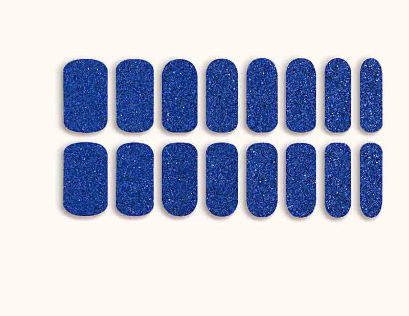 Royal Blue Siren Call Design FX Glitter No Heat Nail Wraps 16 Wraps NWG09 - Dashing Diva.jpg