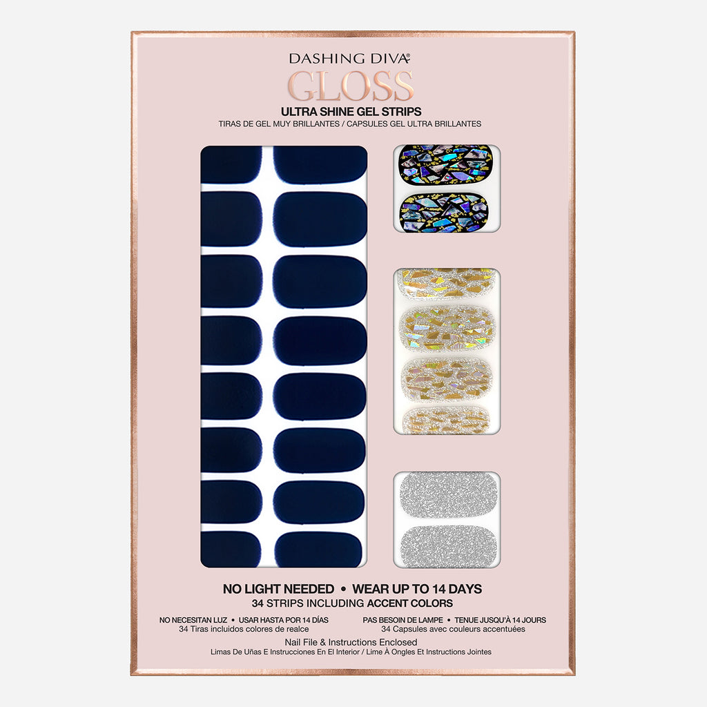 Lapis Lazuli | Gloss Gel Nail Strips by Dashing Diva