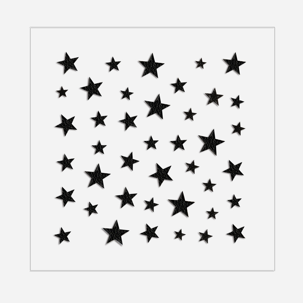 Star Power | Black Nail Art Stickers by Dashing Diva