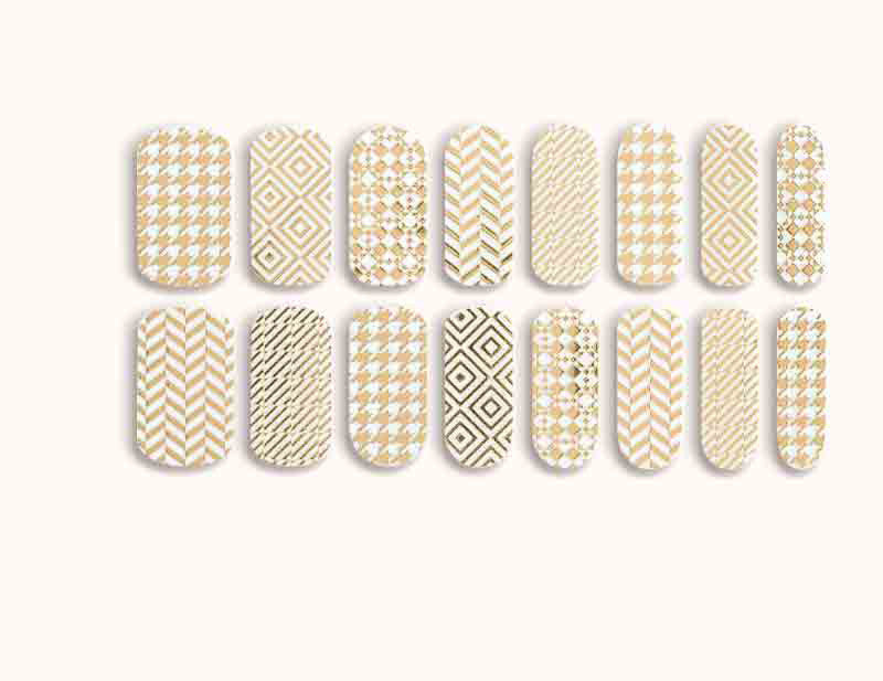 Transparent Gold First Class Design FX Patterns No Heat Nail Wraps 16 Wraps NW09 - Dashing Diva.jpg
