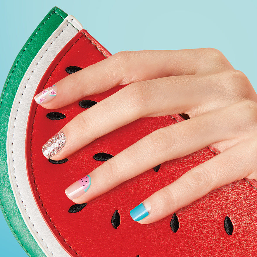Watermelon Pack | Gloss Gel Nail Strips by Dashing Diva