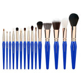 GOLDEN TRIANGLE PHASE I COMPLETE 15PC. BRUSH SET WITH POUCH