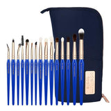 GOLDEN TRIANGLE EYES ONLY COMPLETE 15PC. BRUSH SET WITH POUCH