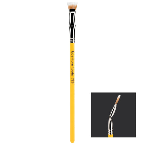 Bdellium Tools Studio 729 Duet Fiber Bent Mascara Fan Brush