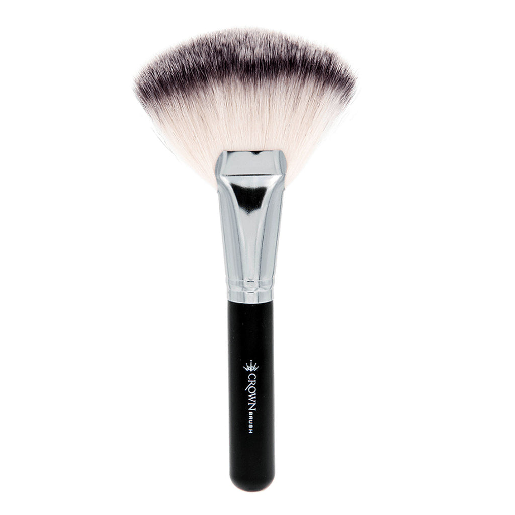 crown brush. crown brush synthetic kabuki fan
