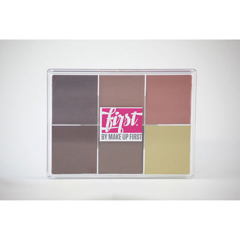 FIRST by Make Up First® (MAQPRO) 6 Color Fard Cream Foundation Palette