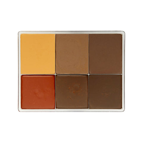 FIRST by Make Up First (MAQPRO) 6 Color Fard Cream Foundation Palette