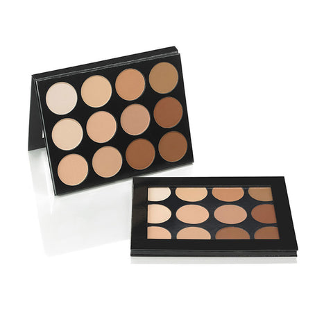 Celebré Pro-HD Pressed Powder Foundation 12 Color Contour/Highlight Palette